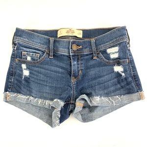 Hollister Short Short Low Rise Jean Short Bootie